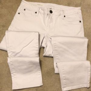 Kut from the Kloth white boyfriend jeans